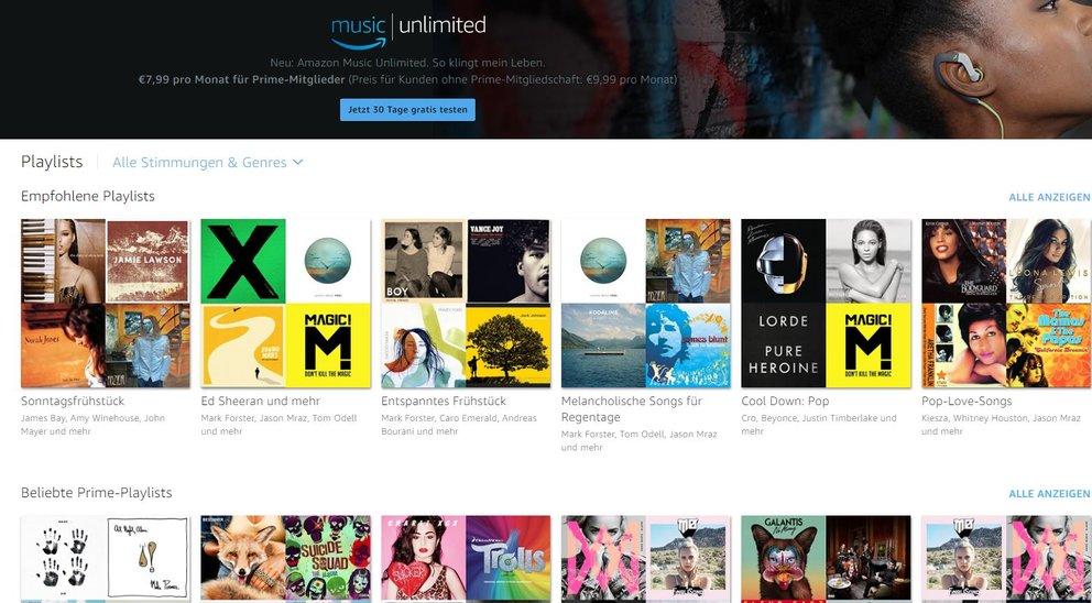 Amazon Playlist finden