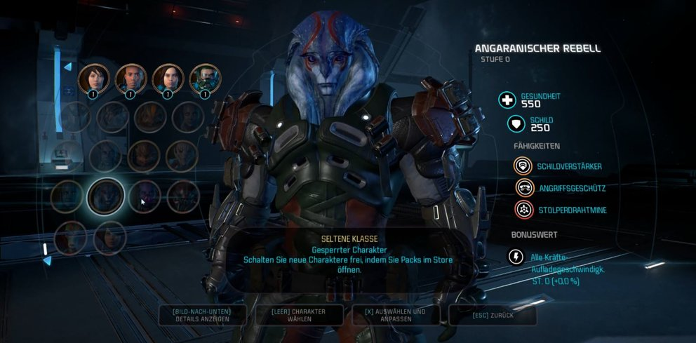 Mass Effect Andromeda Seltene Klassen