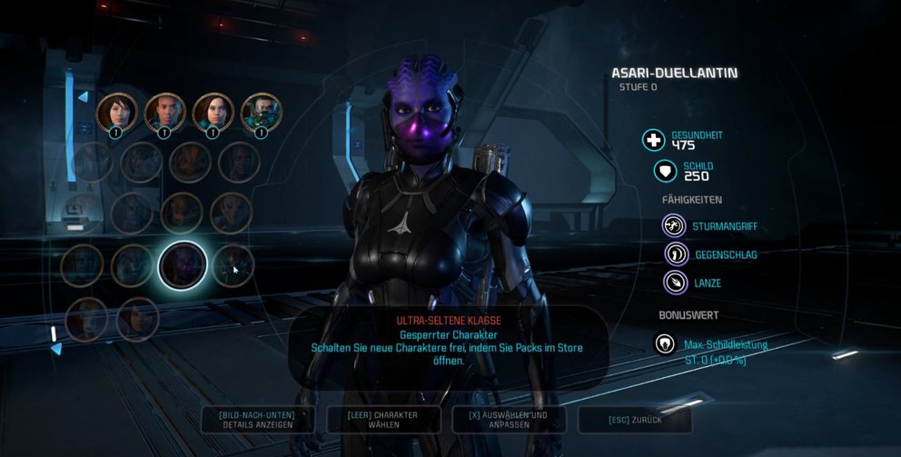 Mass Effect Andromeda Ultra Seltene Klassen