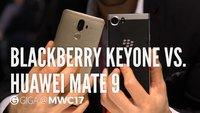 BlackBerry KEYone und Huawei Mate 9: Business-Smartphones im Vergleich