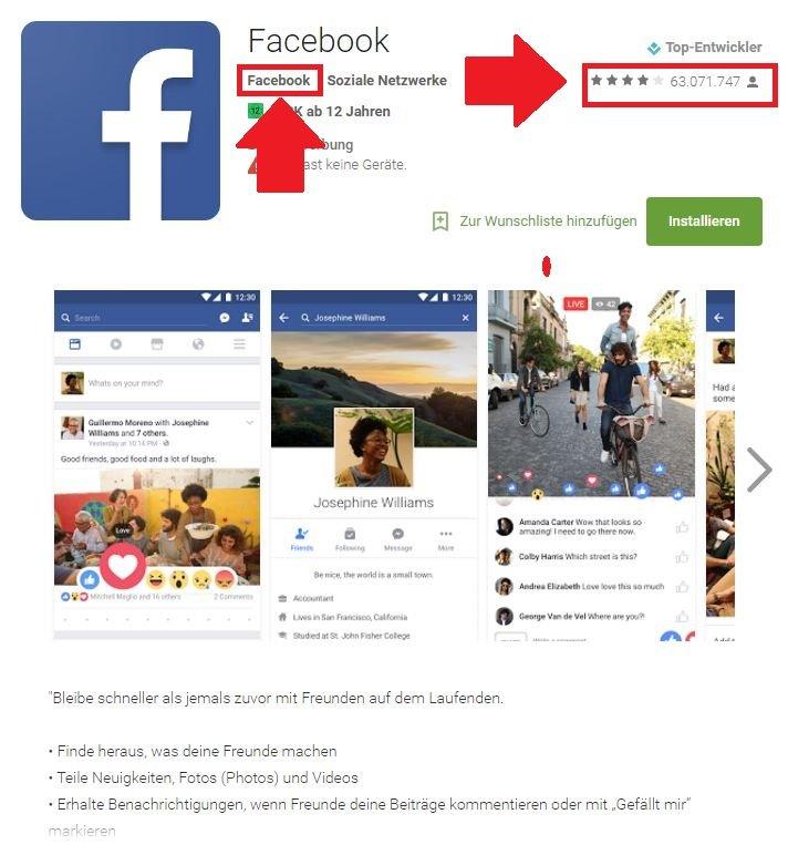 Fake App Facebook