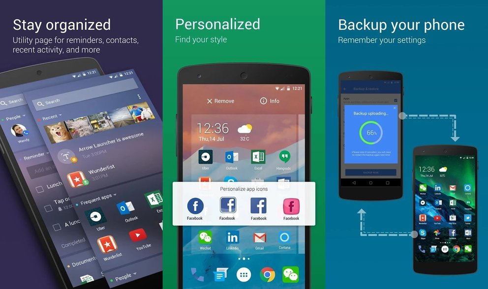 Microsoft Arrow Launcher Android Features