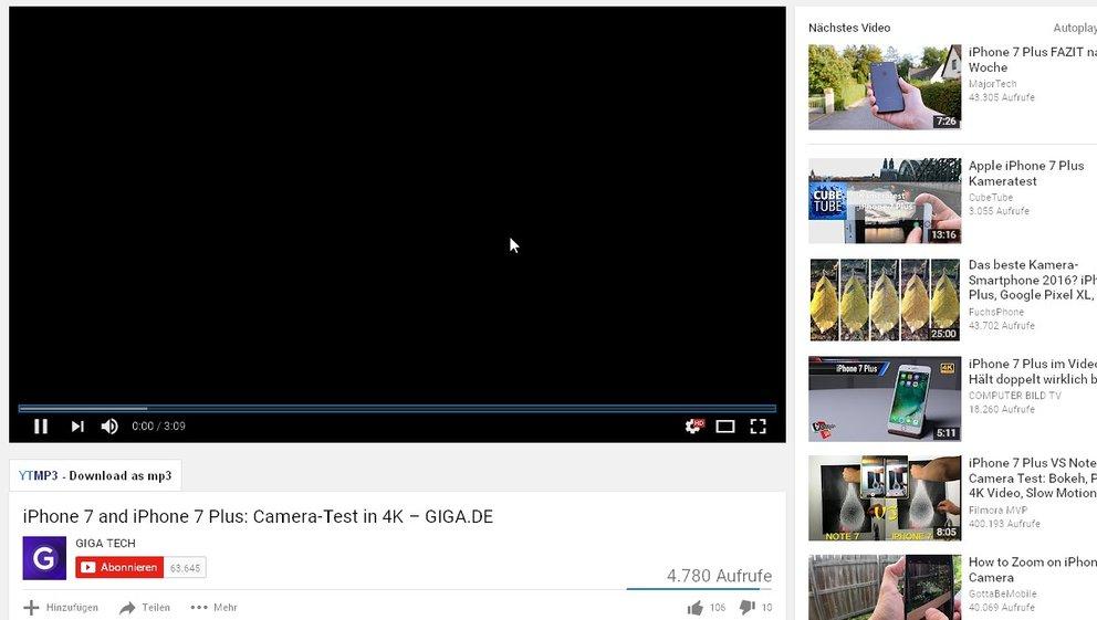 YouTube-Videos schwarz