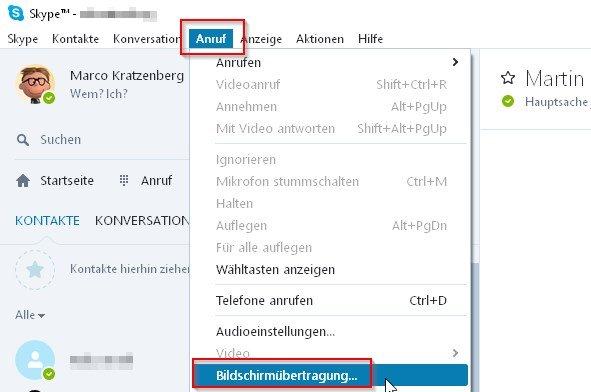 bildschirm-teilen-skype