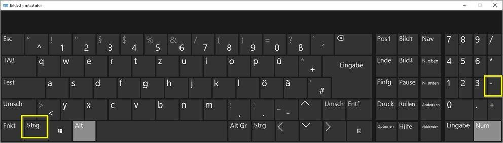 Gedankenstrich Tastatur