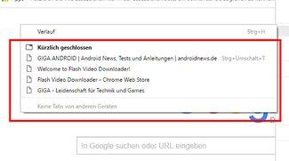 Kürzlich geschlossene Tabs löschen in Chrome – so geht's
