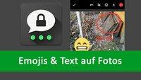 Threema: Smileys, Sticker und Text in Bilder einfügen – so geht's