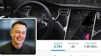 Twitterperle: Tesla-Chef Elon Musk erklärt, warum ein Tacho unnütz ist
