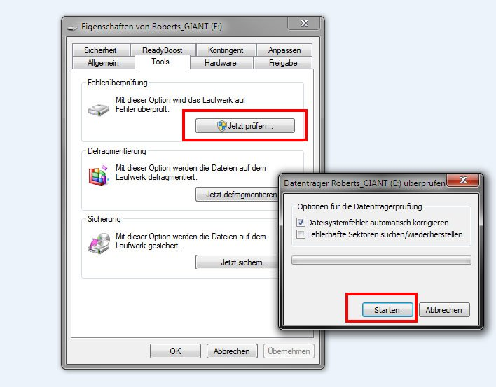 So könnt ihr Fehler auf dem USB-Stick reparieren.