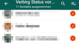 WhatsApp: Status für bestimmte Kontakte verstecken – so geht's
