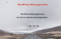 WordPress: Wartungsmodus...