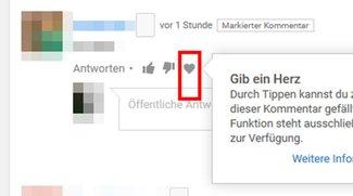 YouTube-Kommentare: Was bedeutet das Herz? Einfach erklärt