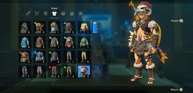 Zelda Rüstungen Barbaren-set