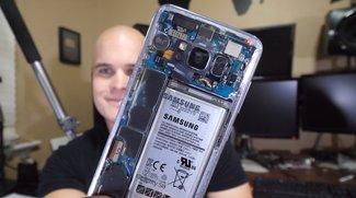Samsung Galaxy S8 mit durchsichtiger Rückseite gebastelt