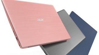Acer Swift 1 und Swift 3 vorgestellt: Stylische Allround-Notebooks zum attraktiven Preis