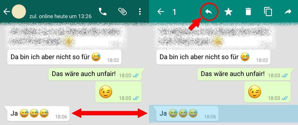 WhatsApp zitieren Anleitung 01
