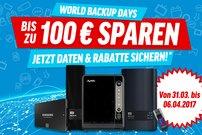 World Backup Days bei notebooksbilliger.de – bis zu 100 Euro Rabatt auf NAS von WD und QNAP