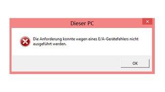 Lösung: E/A-Gerätefehler bei Datenträger