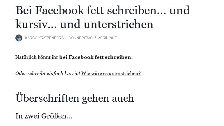 facebook-fett-schreiben