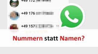Lösung: WhatsApp zeigt nur Nummern statt Kontaktnamen