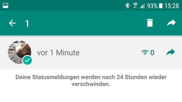 status löschen whatsapp iphone