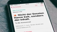 t.b.a. à la Apple: WWDC-Platzhalter sorgen für Erheiterung (Betthupferl)