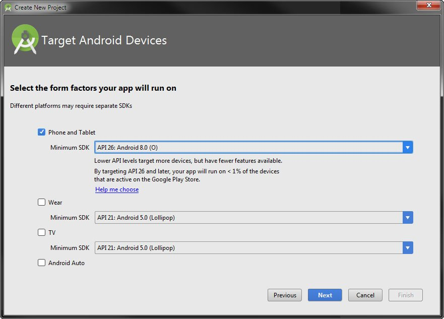 Wählt hier Android 8.0 (O) aus.