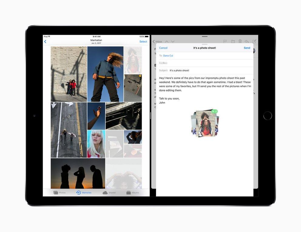 Multitasking und Drag & Drop unterstützt nicht jedes iPad.