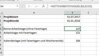 Excel: Arbeitstage & Datumsabstand berechnen