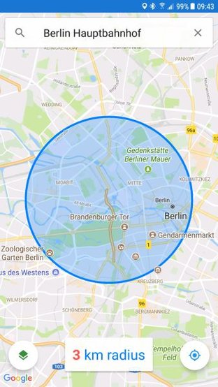 google-maps-radius-app-android
