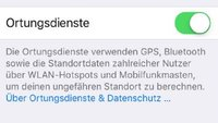 iPhone: Ortungsdienste aktivieren und ausschalten - so geht's