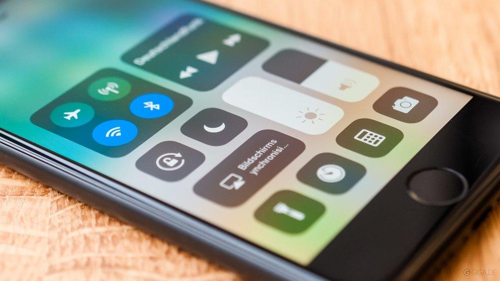 Das ist das Kontrollzentrum von iOS 11