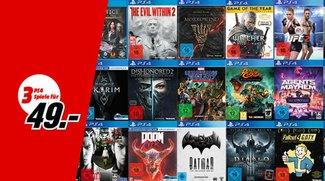 MediaMarkt: 3 Spiele für 49 € (PS4, Xbox, Nintendo & PC)