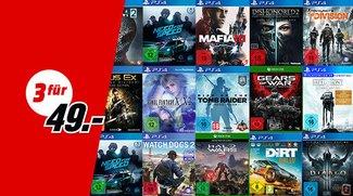 3 Spiele für 49 € bei MediaMarkt (PS4, Xbox, Nintendo & PC)