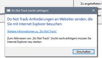 Do Not Track aktivieren – (Chrome, Firefox, Internet Explorer 11 & 10)