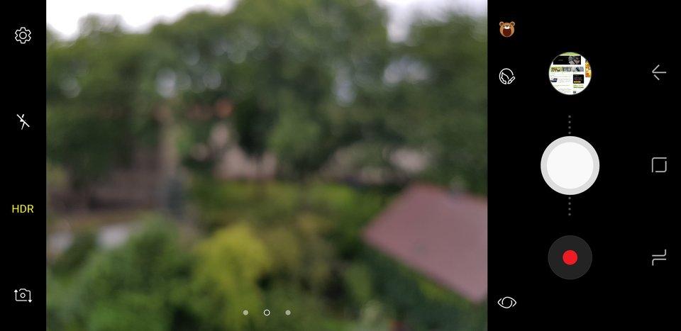 Ein solch unscharfes Bild zeigt die Kamera des S8 leider öfter.