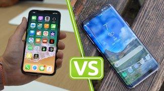 iPhone X vs. Galaxy S8: Die Randlos-Smartphones im Vergleich