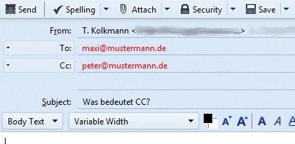 Cc Mail Bedeutung