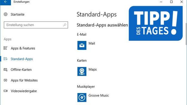 Windows 10: Standard-Apps festlegen & ändern – so geht's