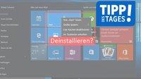 Windows 10: Apps und vorinstallierte Apps deinstallieren – so geht's