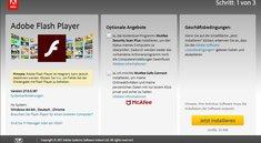 Vorsicht vor einem Virus durch den Adobe Flash Player