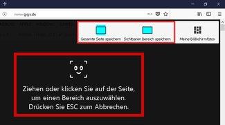 So funktioniert das Firefox-Screenshot-Tool (bebilderte Anleitung)