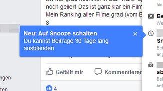 Facebook: Nachrichten stumm schalten (Snooze) – so geht's