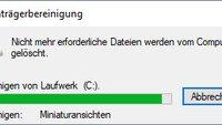 So startet ihr die Datenträgerbereinigung in Windows