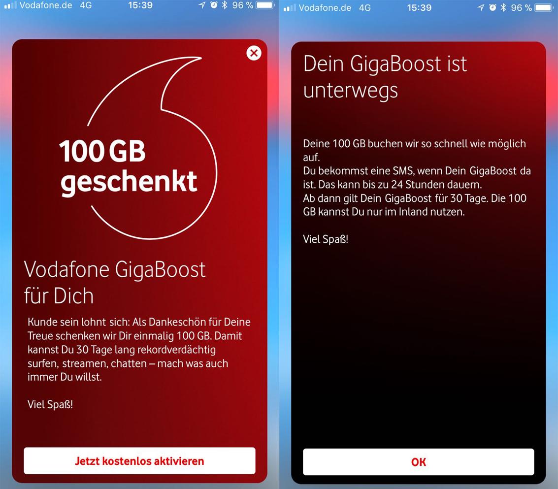 Vodafone verschenkt 100 GB LTE-Datenvolumen – Aktion endet heute