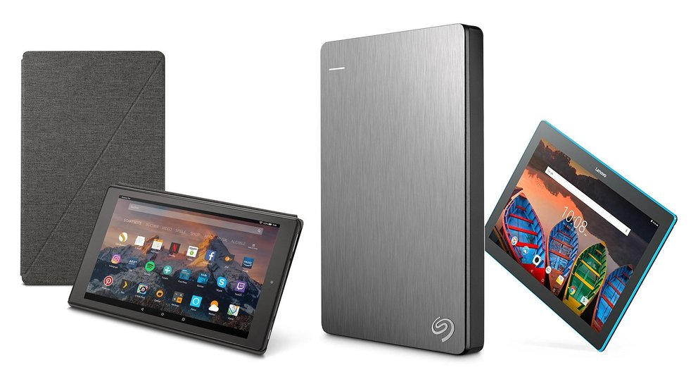 Amazon Blitzangebote: Seagate Backup Plus, Lenovo-Tablet, Kindle-Zubehör mit Rabatt