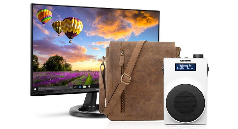 Amazon Angebote: QHD-Monitor von Medion, Büffel-Ledertaschen, DAB+ Radio