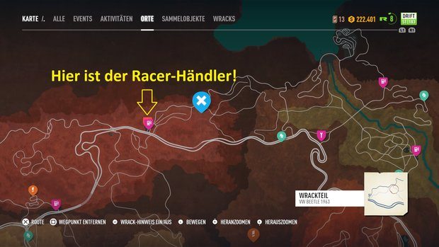 Need for Speed Payback: Wo ist der Racer-Händler? (Kurztipp)
