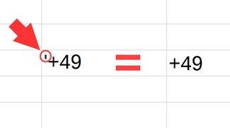 Plus & Minus in Excel: Mathematische Symbole ohne Formel schreiben