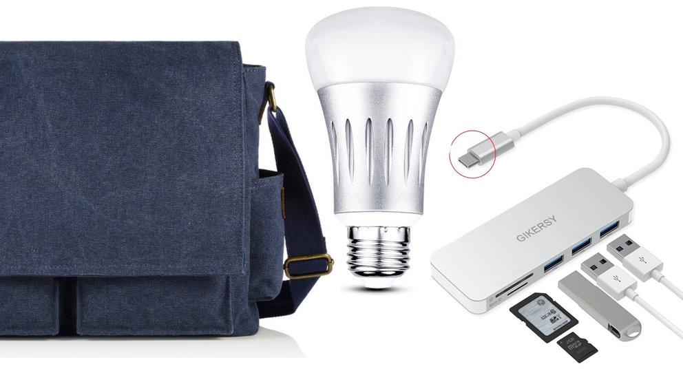 Angebote von Amazon: USB-C-Hub sowie WLAN-Lampen & -Steckdosen